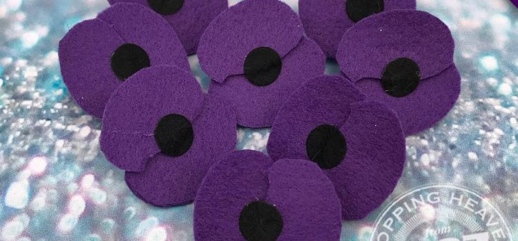 Purple Poppies at Paws at the Shires