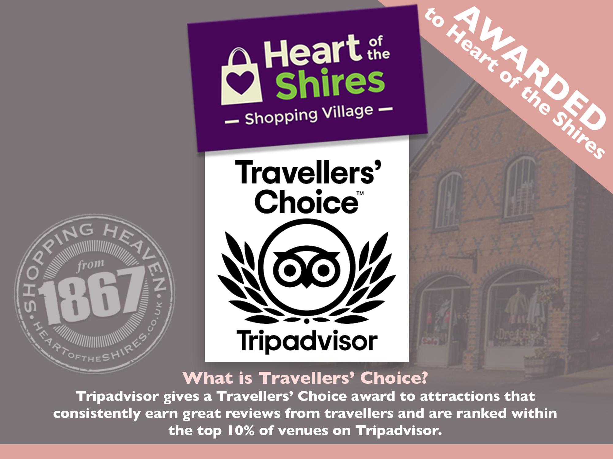 Tripadvisor Travellers' Choice award